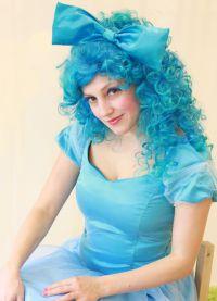 голубой парик 8