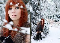 Красивые позы для фотосессии зимой 1