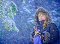 Красивые позы для фотосессии зимой 4