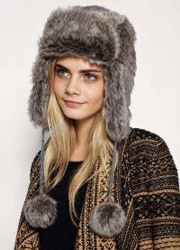 Модные меховые шапки 1