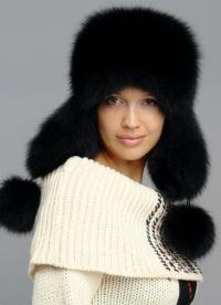 Модные меховые шапки 2