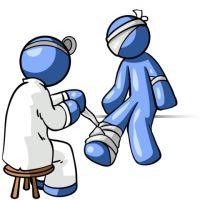 первая помощь при открытом переломе