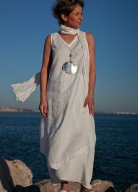 платье из льна в стиле бохо1