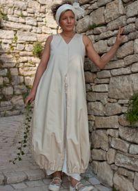 платье из льна в стиле бохо6