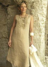 платье из льна в стиле бохо7