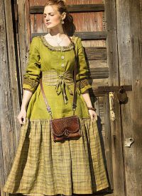 платье из льна в стиле бохо8