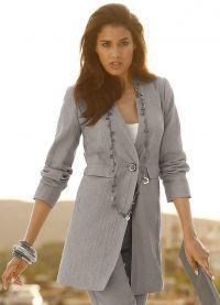 Удлиненный пиджак 9