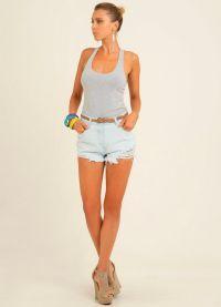 Женские джинсовые шорты 2013 7