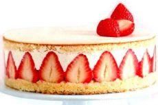 торт суфле с ягодами