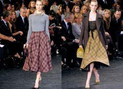 с чем носить длинную юбку осенью