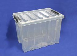 ящик пластиковый с крышкой на роликах