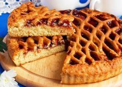 Открытый пирог с вареньем на скорую руку рецепт пошагово 194