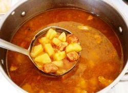 Соус из картошки и мяса