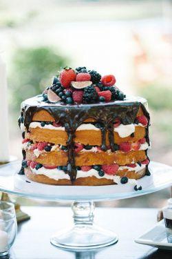 Как украсить торт шоколадом и фруктами 3