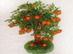 Апельсиновое дерево из бисера