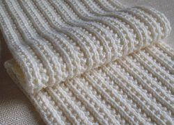 для шарфа схемы ажурные спицами узоры двухсторонние