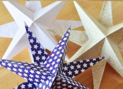 Объемная звезда из бумаги
