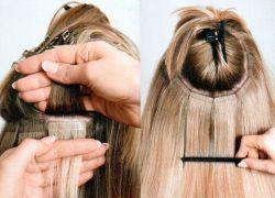 ملحقات الشعر على شرائط