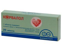 корвалол состав таблетки