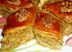 Рецепт пахлавы с грецкими