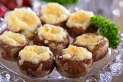 шампиньоны с сыром в духовке