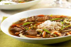 рисовый суп из говядины и стручковой фасоли