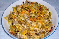 Охотничий салат с печенью