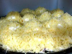 Салат сугробы с курицей