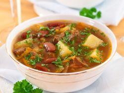 Суп на свиной косточке рецепт