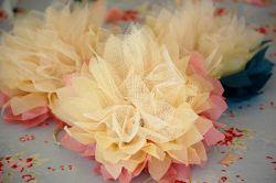 Сделать цветок из сетки своими руками фото 641