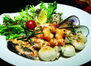 В меню немало блюд из морепродуктов