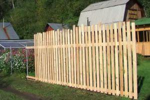 Деревянный забор своими руками12