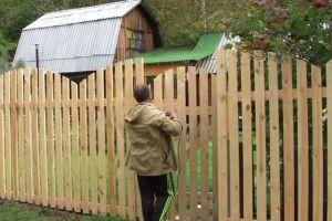 Деревянный забор своими руками17