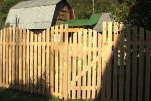 Деревянный забор своими руками18