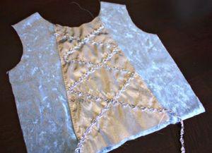 новогоднее платье для девочки своими руками 21