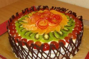 Как покрыть фрукты на торте желе