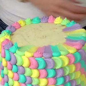 Как сделать радужный торт фото 654