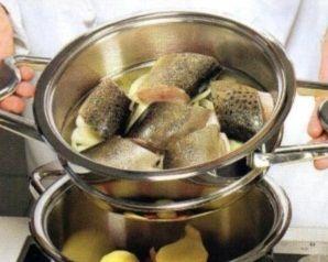 филе рыбы в пароварке