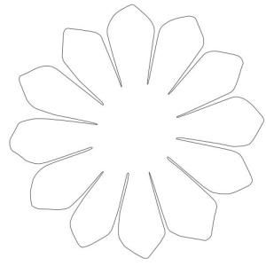 Гавайский цветок из гофрированной бумаги своими руками 129