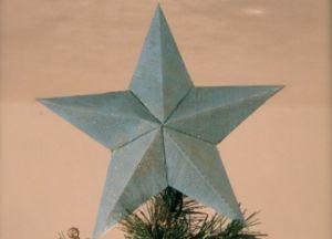 Объемная звезда из бумаги 18