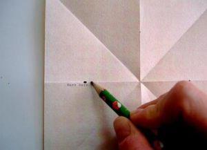 Объемная звезда из бумаги 22