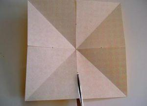 Объемная звезда из бумаги 23