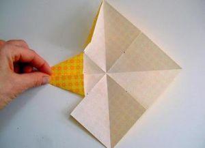 Объемная звезда из бумаги 24