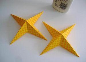 Объемная звезда из бумаги 28