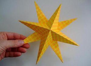 Объемная звезда из бумаги 31