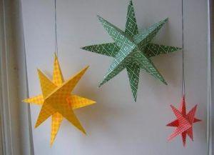 Объемная звезда из бумаги 32