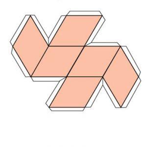 Как сделать параллелепипед из картона фото 524