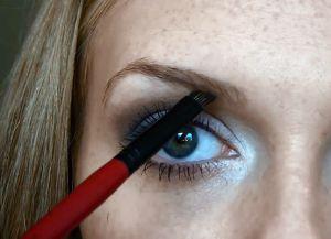Как красить брови тенями поэтапно 2