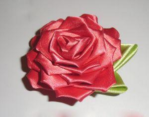 Роза из ткани своими руками фото 320