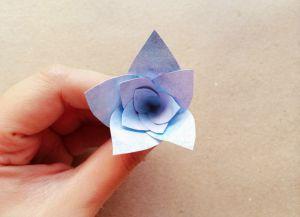 цветы из акварельной бумаги 4